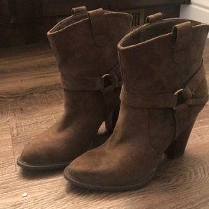 Dark brown Cowgirl booties brand new